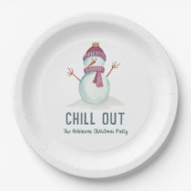 Fun Christmas Party Paper Plate