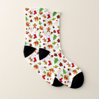Fun Christmas Pattern Socks