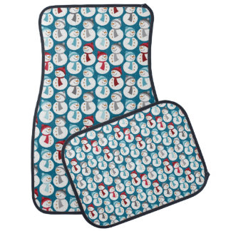 Fun Christmas Snowman Pattern Floor Mat