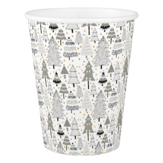 Fun Christmas Tree pattern party decor Paper Cup