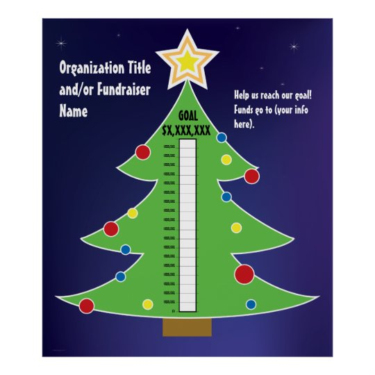 Fun Christmas Tree Thermometer Poster