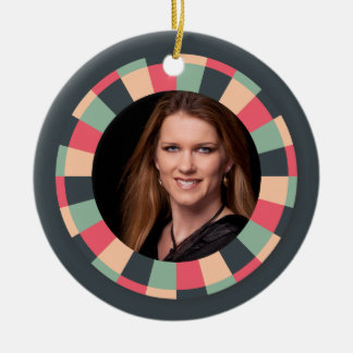 Fun Circle frame - vintage candy - dark Christmas Ornament
