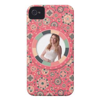 Fun Circle frame - vintage candy - pattern iPhone 4 Case-Mate Case