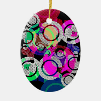 Fun Circles and Oddities Christmas Ornament