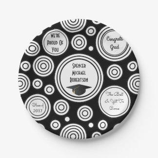 Fun Circles Graduation 7 Inch Paper Plate
