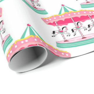 Fun Circus Carousel Party Wrapping paper