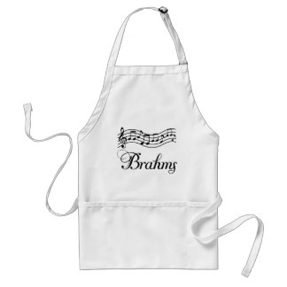 Fun Classical Music Brahms Music Notes Standard Apron