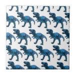 Fun Classy Stylish Blue T-Rex Tiles