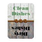 Fun Clean / Dirty Dishwasher Magnet