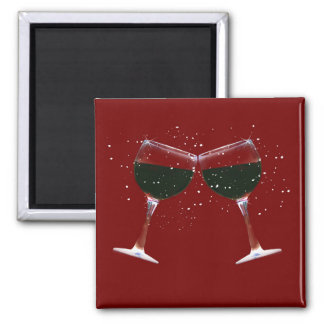 Fun Clinking, Toasting Wine Glasses Magnet