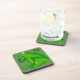 Fun Clueless Green Frog Coasters