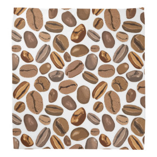 Fun Coffee Bean Design Bandana