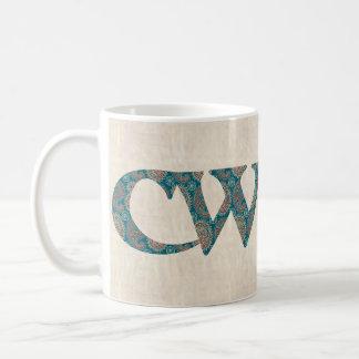 Fun Coffee Mug, Welsh Paisley Cwtch Slogan, Basic White Mug