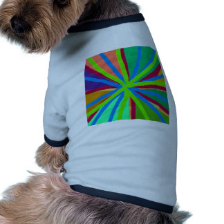 Fun Color Paint Doodle Lines Converging Pin Wheel Dog Clothes