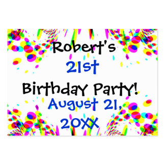 Fun Colorful 21st Or Any Age Birthday Party Card Pack Of Chubby Business Cards
