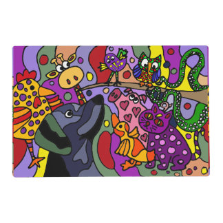 Fun Colorful Abstract Animals Placemat