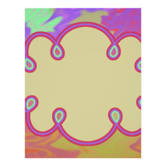 Fun Colorful Abstract Art 21.5 Cm X 28 Cm Flyer