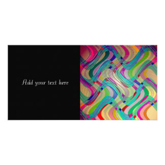 Fun Colorful Abstract Art Design Photo Card Template