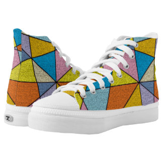 FUN Colorful Abstract Design High Top Shoes