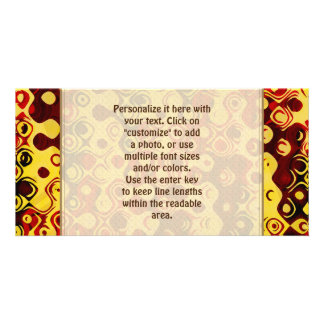 Fun Colorful Abstract Yellow Red Brown Customised Photo Card