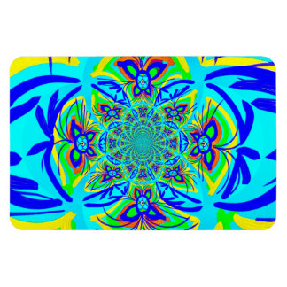 Fun Colorful Butterfly Flower Abstract Fractal Art Magnets