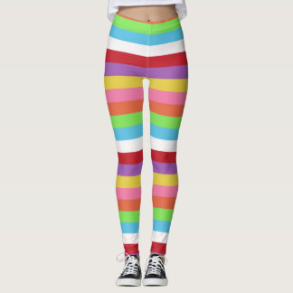 fun colorful candy stripes pattern tights