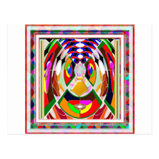 Fun Colorful Cartoon Faces: Graphic Greetings GIFT Postcard
