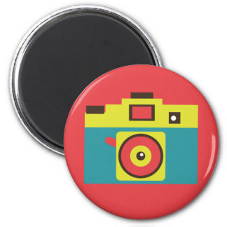 Fun Colorful CMYK Lomo Camera Photographer Magnet