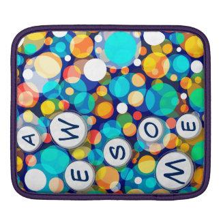 Fun Colorful Dots Pattern (Kids, Celebrations) iPad Sleeves