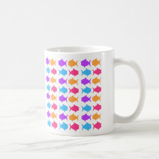Fun Colorful Fish Theme Coffee Mugs