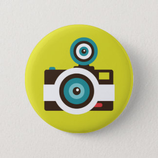 Fun Colorful FishEye Camera Photographer 6 Cm Round Badge
