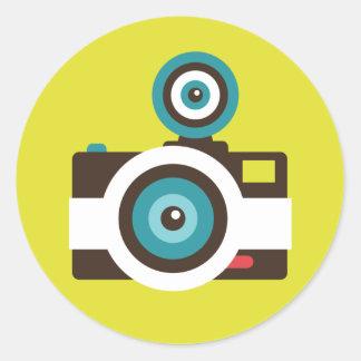 Fun Colorful FishEye Camera Photographer Classic Round Sticker