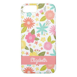 Fun Colorful Floral iPhone 7 Case