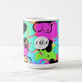 fun colorful flower basic white mug