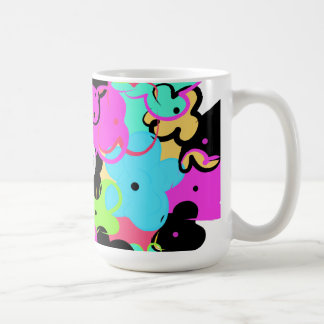 fun colorful flower mug