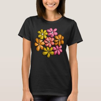 Fun Colorful Flowers Spring Design T-Shirt