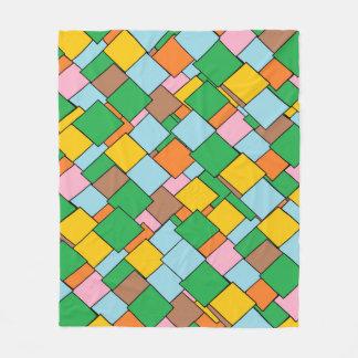 Fun Colorful Geometric Pattern Fleece Blanket