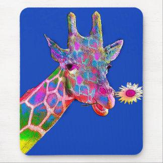 Fun Colorful Giraffe Mouse Pad