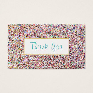 Fun Colorful Glitter Look Thank You Insert