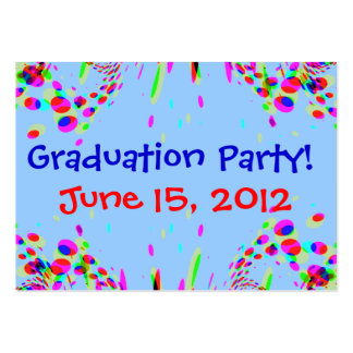 Fun Colorful Graduation Party! Card Pack Of Chubby Business Cards