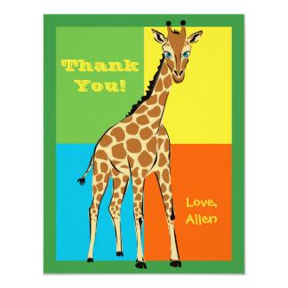 Fun Colorful Little Giraffe Note Card 11 Cm X 14 Cm Invitation Card