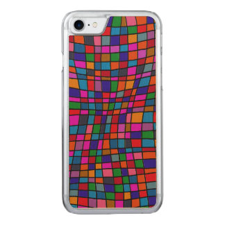 Fun Colorful Mosaic Tiles Pattern Carved iPhone 8/7 Case