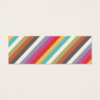 Fun Colorful Multi Stripes  Mini Business Card