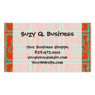 Fun Colorful Owls Orange Teal Blue ZigZag Pattern Business Cards
