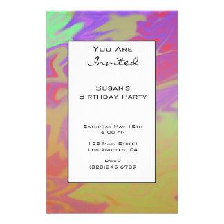 Fun Colorful Party Invite 14 Cm X 21.5 Cm Flyer