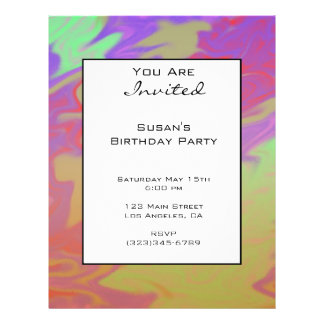 Fun Colorful Party Invite Flyers