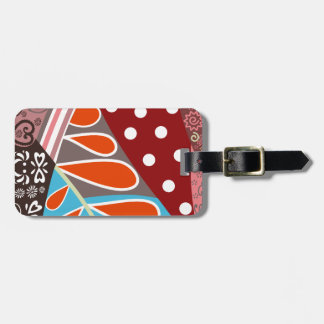 Fun Colorful Pattern Luggage Tag