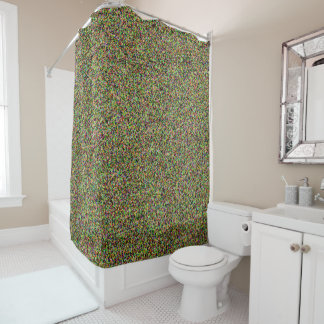 Fun Colorful Sand Pattern Design Cool Shower Curtain