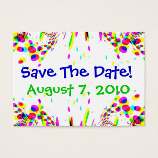 Fun Colorful Save The Date! Card
