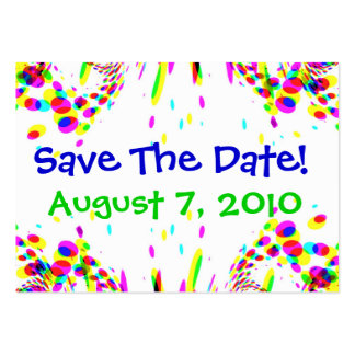 Fun Colorful Save The Date! Card Large Business Cards (Pack Of 100)